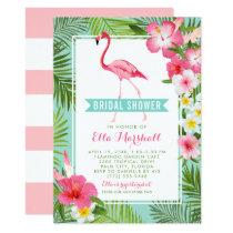 Bridal Shower Invitations   Tropical Flamingo