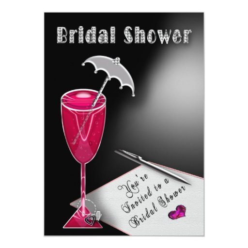 Bridal Shower Invitations Umbrella of Fun