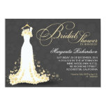 "bridal shower invitations with wedding gown 5"" x 7"" invitation card"