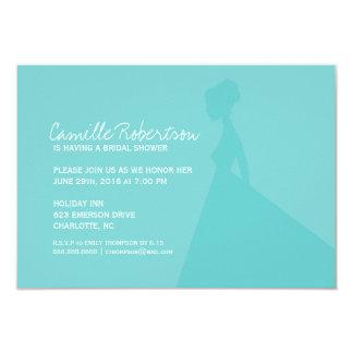 Bridal Shower Invite | Bride Silhouette I |blu