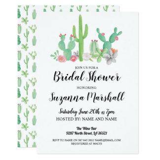 Bridal Shower Invite Cactus Bachelorette Cacti