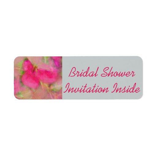 u0026quot;Bridal Shower Inviteu0026quot; Envelope u0026quot;Labelu0026quot; Return Address ...