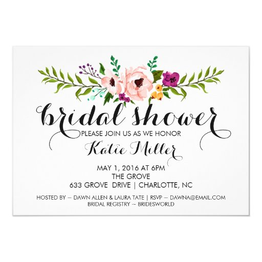 Bridal Shower Invite - Flower Crown II