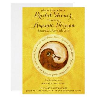 BRIDAL SHOWER INVITE gold doves customisable