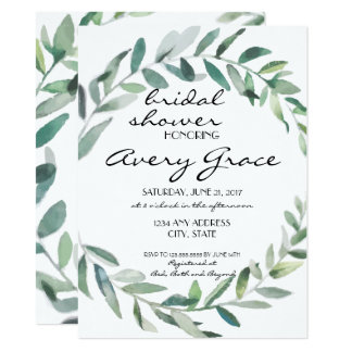 Bridal Shower Invite - Greenery Wedding