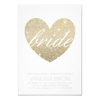 Bridal Shower Invite | Heart Fab Bride script