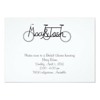 """Bridal Shower invite 5"""" X 7"""" Invitation Card"""