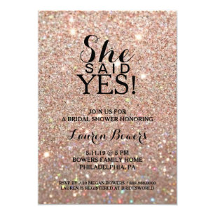 She Said Yes Invitations Announcements Zazzle