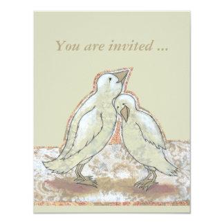 Bridal shower invites fun perfect couple bird art