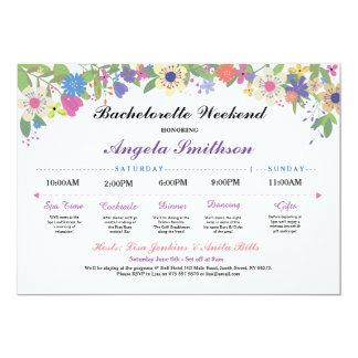 Bridal Shower Itinerary Bachelorette Purple Plan Card
