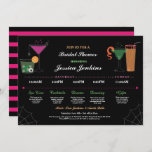 Bridal Shower Itinerary Cocktail Halloween Invite
