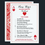 """Bridal Shower Itinerary Las Vegas Cards Invite<br><div class=""""desc"""">Las Vegas Playing Cards Bachelorette Shower Itinerary / Bridal Shower Invitation - Front and back included. Change the schedule,  time,  text to suit your party!</div>"""