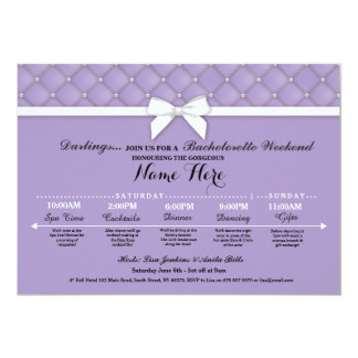 Bridal Shower Itinerary Lilac Bachelorette Invite