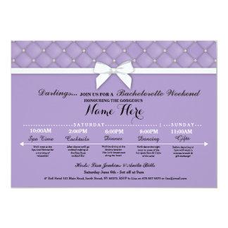 Bridal Shower Itinerary Lilac Bachelorette Invite