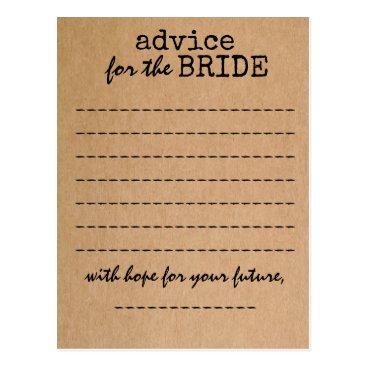 ericksondesigns Bridal Shower Kraft Advice Card