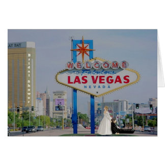 Bridal Shower Las Vegas Bride dragging Groom Card