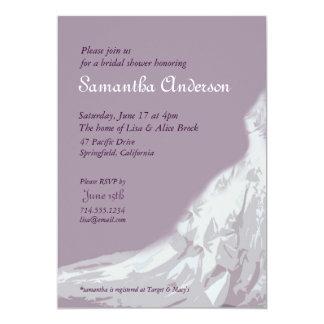 Bridal Shower lavender : bridal gown Card