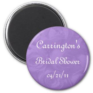 Bridal Shower - Lavender Roses w/ Name & Date Magnet