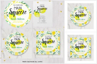 Bridal Shower Lemons Main Squeeze Gifts