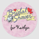 Bridal Shower Lilac Stickers