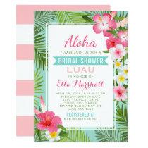 Bridal Shower Luau Invitations | Tropical Flowers