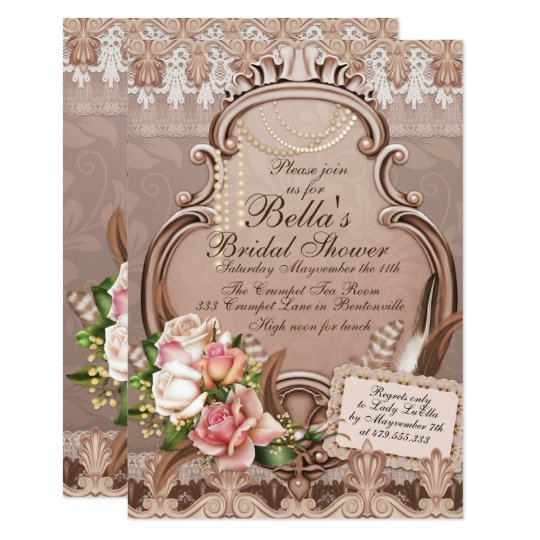 Bridal Shower Luncheon Party Invitations
