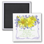 Bridal Shower Magnets Yellow Daisies Bouquet