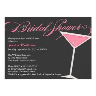 Bridal Shower Martini Personalized Invites