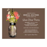 Bridal Shower Mason Jar and Wildflowers Invitations
