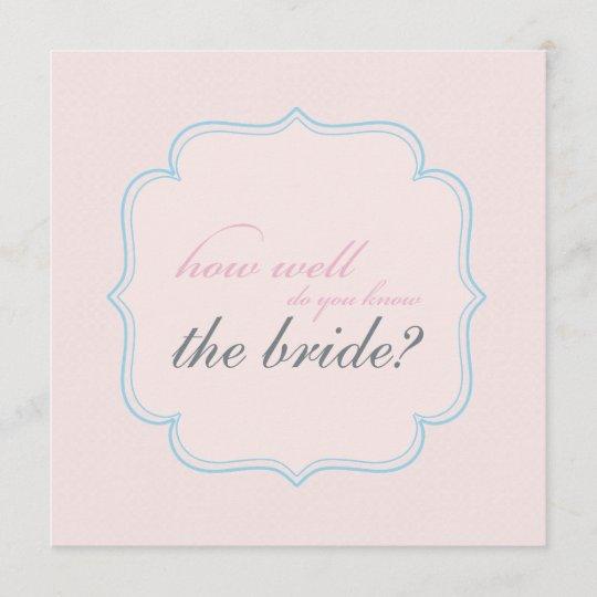 bridal shower memory game