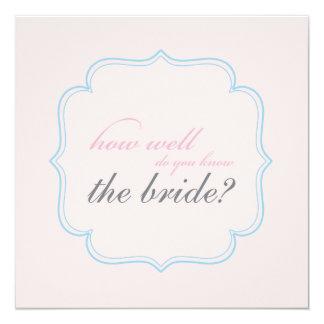 bridal shower memory game invitations