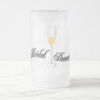 bridal shower merchandise frosted glass beer mug