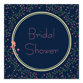 Bridal Shower | Midnight Blue Wildflower Wreath Card