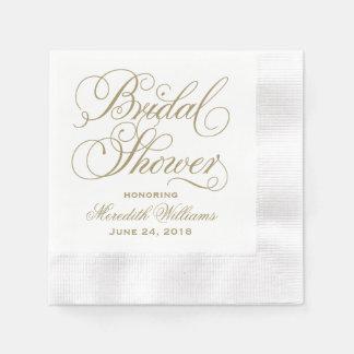 Bridal Shower Napkins | Antique Gold