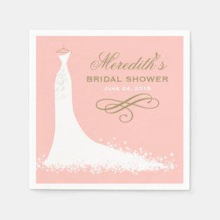 Bridal Shower Napkins | Elegant Wedding Gown at Zazzle