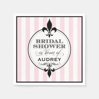 Bridal Shower Napkins | Fleur de Lis Design