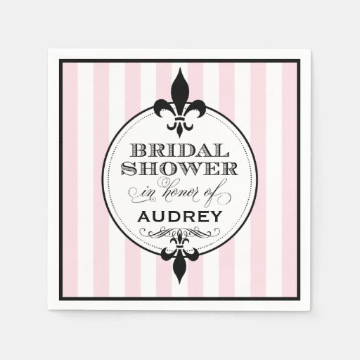 Bridal Shower Napkins | Fleur de Lis Design Paper Napkins