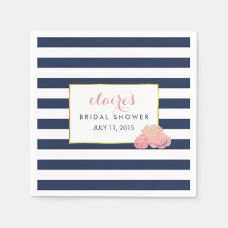 Bridal Shower Napkins | Midnight Blush Peony
