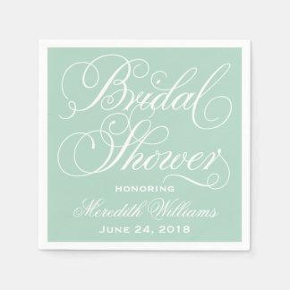 Bridal Shower Napkins | Mint Green