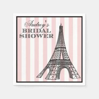 Bridal Shower Napkins | Paris France Theme
