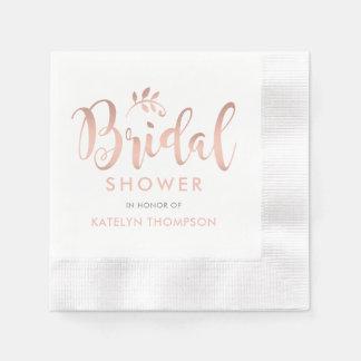 Bridal Shower Napkins | Rose Gold Script Wedding