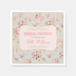 bridal shower napkins vintage garden party