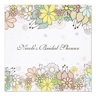 Bridal Shower Natural White Custom Invitation