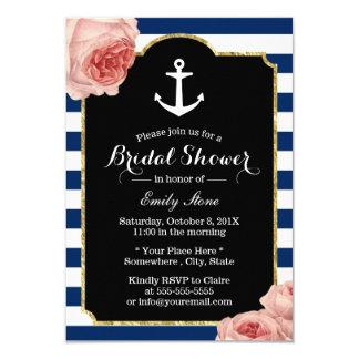 Bridal Shower Nautical Anchor Vintage Floral Card