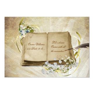 "Bridal Shower Old Album 5"" X 7"" Invitation Card"