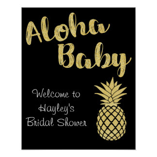 Bridal Shower or Bachelorette Sign- Luau Theme Poster