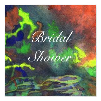 Bridal Shower Orange Fusion 2 Wedding Invitation