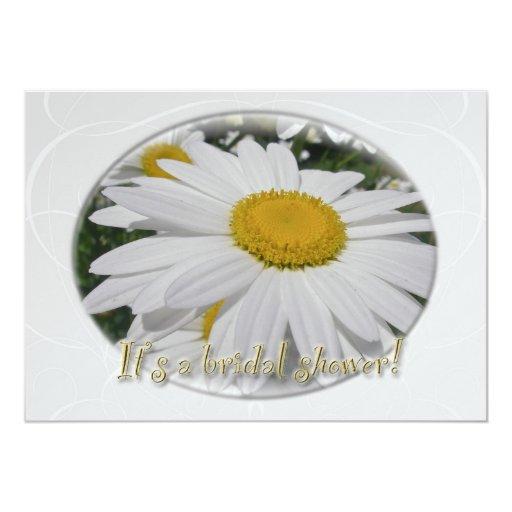 Bridal Shower Oxeye Daisy Wildflower 5x7 Paper Invitation Card