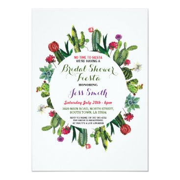 WOWWOWMEOW Bridal Shower Party Fiesta Cactus Mexican Invite