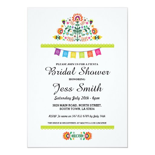 Bridal Shower Party Fiesta Mexican Invite